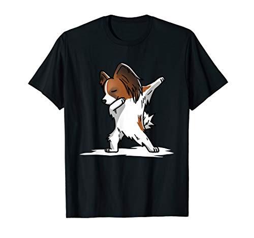 Dabbing Papillon Dab Dance Funny Dog Gift  T-Shirt
