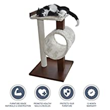 [NEW] PetFusion Modern Cat Activity Tree & Scratching Post. (Furniture Grade MDF; Catnip Spray)