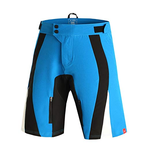 Cycling Shorts Men + 5D Gel Pad Cycling Underwear Padded Bicycle Mountain Bike Shorts Downhill Breathable,10,L
