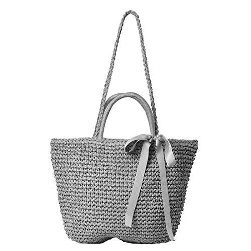 mujer Talla straw TOYIS bags para al Bolso Plata hombro única YCHwF