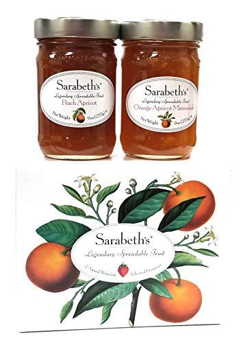 (Sarabeth's Two Jar Gift Box Set - Two 9 oz. jars - Peach Apricot & Orange Apricot Marmalade)