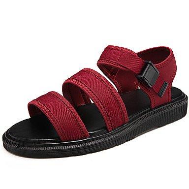 Unisex sandalias verano confort par zapatos suelas de luz casual PU Red