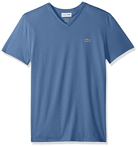 Lacoste Men's Short Sleeve V Neck Pima Jersey T-Shirt,, used for sale  Delivered anywhere in Canada
