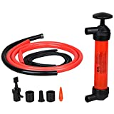 Multi-Use Hand Fuel Pump Kit , Gasoline Diesel Hand Siphon Transfer Pump, with 50 Inch Hose 78GPH, for Fuel/ Oil/ Fluid/ Other Fluids Transfer - Use In Case of Emergency