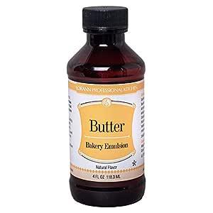 LorAnn Butter, Natural (Clear) Bakery Emulsion, 4 ounce bottle