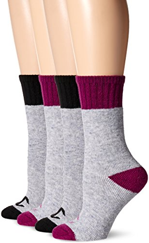 Champion Women's 4-Pack Full Cushion Outdoor Crew, Black Assorted, 5-9