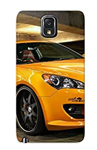 Galaxy Note 3 Cover Case Design - Eco-friendly Packaging(cars Vehicles Hyundai Hyundai Genesis Orange Cars )
