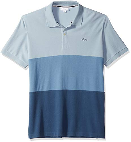 Jual Lacoste Men s Short Sleeve Reg Fit Blue Pack Colorblock Polo ... 8668da3921