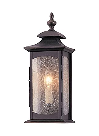Murray Feiss OL2600ORB, Market Square Outdoor Wall Pocket Sconce Lighting,  60 Total Watts,
