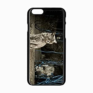 Customized Back Cover Case For iPhone 6 Hardshell Case, Black Back Cover Design 4.7inch Cat Personalized Unique Case For iPhone 6