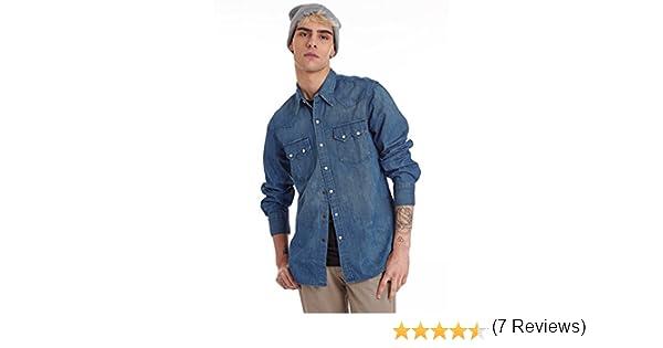 Levis Strauss Camisa Hombre Sawtooth Western Azul S: Amazon.es: Ropa y accesorios