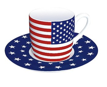 United States - Espresso Cup and Saucer