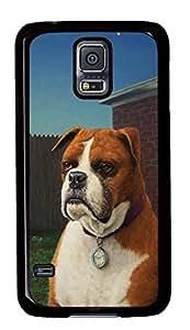 Diy Fashion Case for Samsung Galaxy S5,Black Plastic Case Shell for Samsung Galaxy S5 i9600 with Watchdog