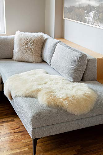 Wool Natural Long (Overland Single-Pelt (2' x 3.5') Premium Australian Sheepskin Rug)