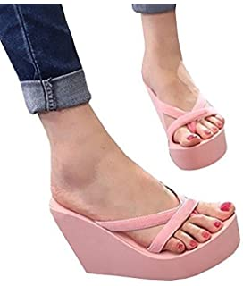 13ed97559234c7 Meilidress Fashion Women Casual Summer Platform Shoes Wedges Flip Flops  Outdoor Slippers