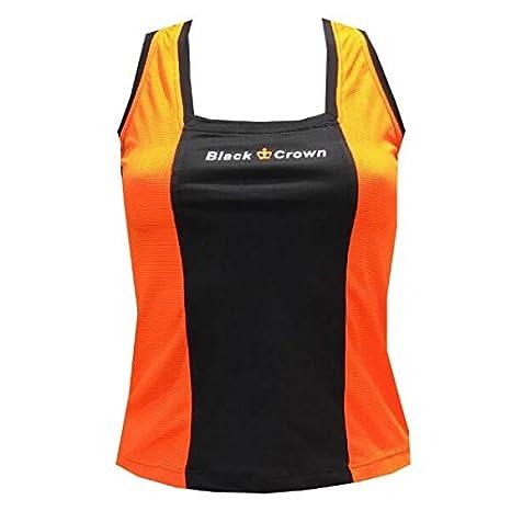 Camiseta Padel Black Crown Mujer Zurich Naranja/Negro-L: Amazon.es ...