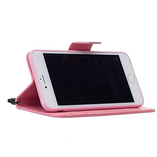 iPhone 7 PLUS 5.5 Custodia in Pelle Protettiva Flip Cover per iPhone 7 PLUS 5.5 Snap-on Magnetico Bookstyle TPU Case - Cozy Hut Fatto a Mano Custodia Wallet Protettiva Portafoglio Stand Case Magnetico