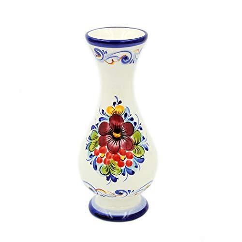 FAIREAL Hand-Painted Decorative Traditional Portuguese Ceramic Vase #81