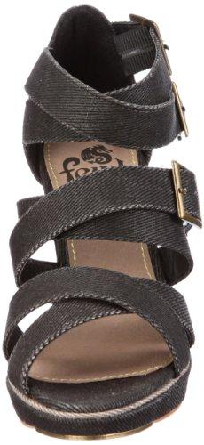 Wasp para Pumps Negro FBW2037SP12 Zapatos vestir Feud mujer Women de de tela TZd1Eqq4z