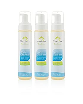 Foaming Body Cleanser by Nurture   No Rinse Body Wash & Shampoo That Cleanses, Moisturizes, and Protects Skin and Hair - Non Allergenic - Non sensitizing - Wipe Away Cleanser - 3 Bottles