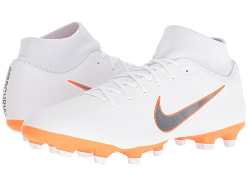 [NIKE(ナイキ)] メンズランニングシューズ?スニーカー?靴 Superfly 6 Academy MG White/Metallic Cool Grey/Total Orange 5 (23cm) D - Medium