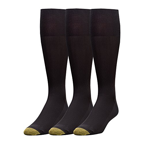 - Gold Toe Men's 3-Pack Metropolitan Over-The-Calf Dress Socks, Black, 10-13 (Shoe Size 6-12.5)