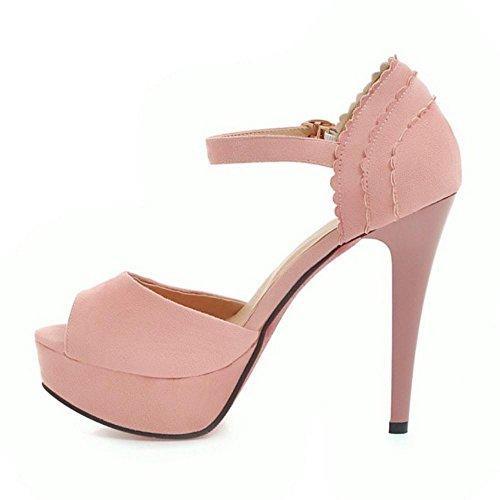 Caviglia TAOFFEN Sandali 4 alla Stiletto Rosa Cinturino Donna nXqgxrEX6B