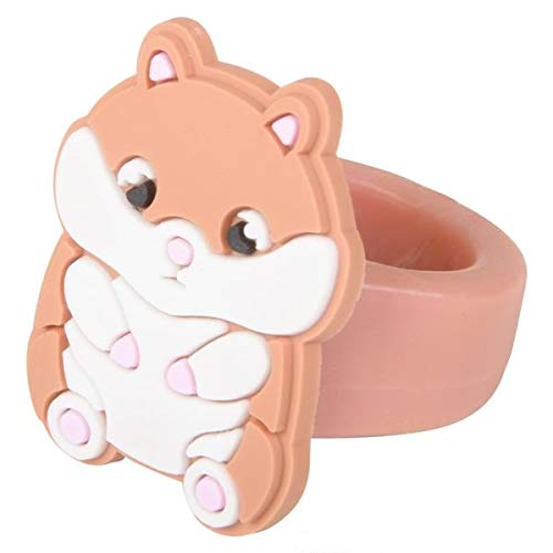 Colorful Hamster 1.25 RINGS Great for Birthday Favors- Prizes- Goodie Bags- /& More! 36 3 Dozen