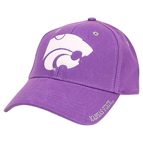 NCAA Adult Baseball Cap Adjustable Hat (Kansas State Wildcats (Edge))