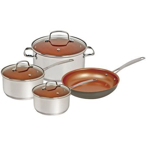 Enjoy this Special Deal Buy NuWave 7 Piece Duralon Cookware Set Induction Ready Stainless Steel Easy Cooking With Less Oil Enjoy Mega Savings Today