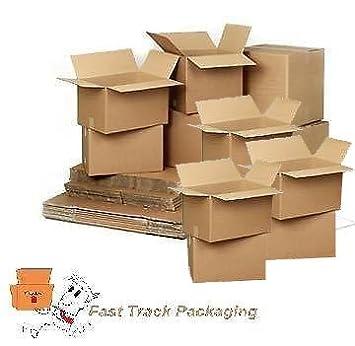 Cajas de cartón para mudanza, de doble pared, tamaño grande, en lote de 10 unidades: Amazon.es: Oficina y papelería