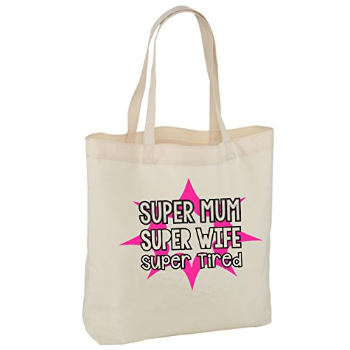 super super bag day tired tote bag superhero super wife hero mum life bag Mothers super mum mummy bag shopping tote f1qw0B