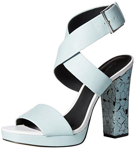 Calvin Klein Womens Bao Platform Dress Sandal Skylight mcorc4t