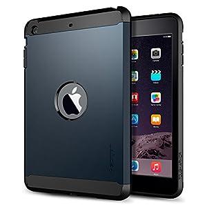 iPad Mini 3 Case, Spigen® [AIR CUSHION] iPad Mini 3 Case [Tough Armor] [Metal Slate] Air Cushioned Protective Case with Dual Layer for iPad Mini 3 / iPad Mini 2 - Metal Slate (SGP10623) from Spigen