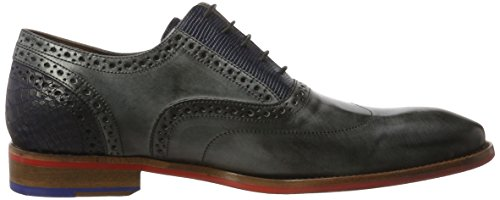 Floris Van Bommel Herren 19062 Oxford, Grau (black Calf)