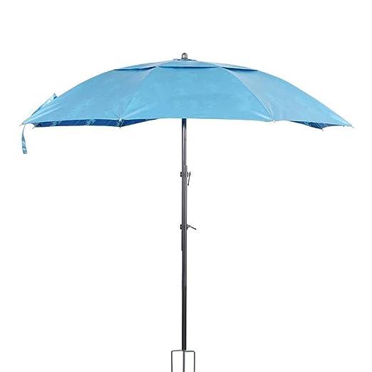 ahorros fantásticos 100% de calidad imágenes detalladas Paraguas de Pesca, Doble Capa Protección Solar Parasol Azul Grande ...