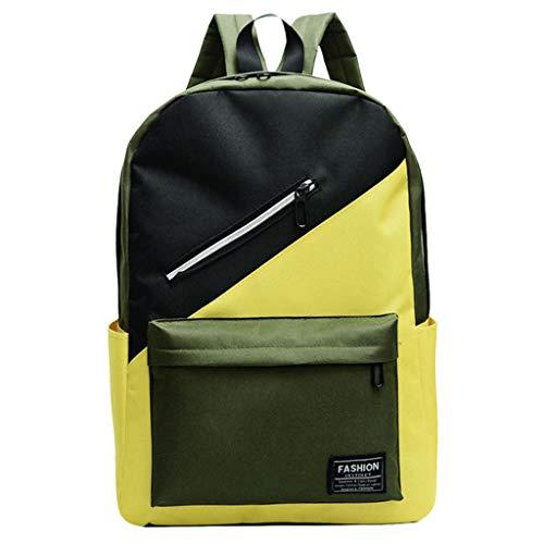 - Lightweight Backpack for School Nylon School Bag Hit Color Students Shoulder Bag