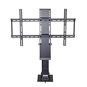 Pinty flat panel tv lift mount stand shelf for Motorized vertical tv lift
