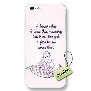 Disney Alice in Wonderland Hard Plastic Phone Case & Cover for iPhone 5c - Personalized Disney Quote iPhone 5c Case - Transparent