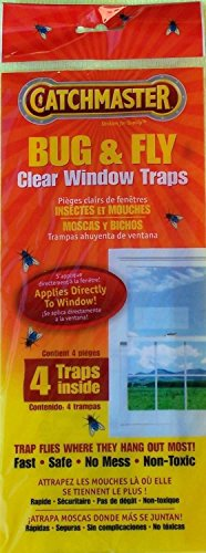 48 PACKS Catchmaster 904 Bug & Fly Clear Window Fly Traps (total of 192 traps) by Catchmaster 904 Bug & Fly Clear Window