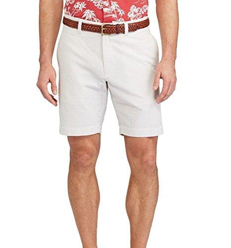 Chaps Men's Straight-Fit Seersucker Stripe Shorts (Hampton Khaki, 42)