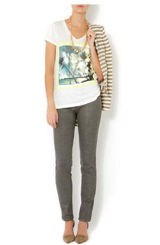 De One camiseta 40792 Diseño Oui Manga T Corta Impresión Life Blanco Playa tRfRqg