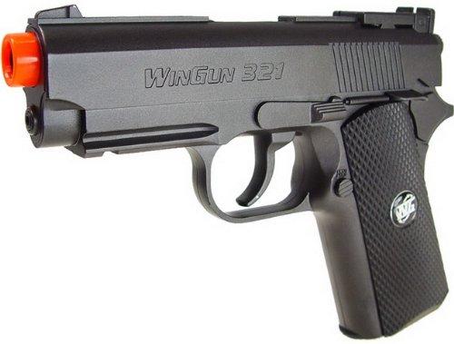 wg tactical mini 1911 full metal co2 pistola de airsoft - negro (pistola de airsoft)