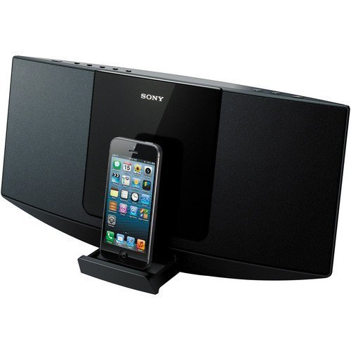 Sony Desktop Music Stereo System with Lightning 8-pin Connector Dock for Iphone 5, Ipod Touch 5th Generation, Ipod Nano 7th Generation, Single Disc CD Player, CD, CD-R/RW, And MP3 Playback, AM / FM Radio With 30-Station Presets, 10 Watts Full-Range Speake by Sony (Image #2)