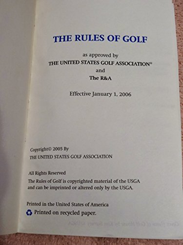 The Rules of Golf: 2006-2007 (And the Rules of Amateur...
