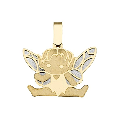 Pendentif FAIRY 18k bicolor or silhouette assise [AB2056]