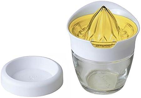 Prepara PP07-JUSYLX Glass Citrus Juicer with Storage, Lemon