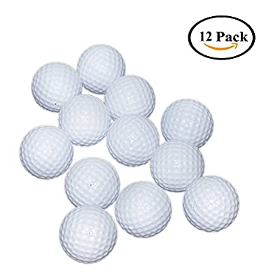 SOWOFA Plastic Golf Balls Toys 1 Dozen Indoor Outdoor Play Practice 41mm for Child Kid Toddlers Golfer