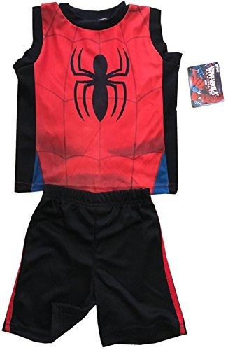 spider-man+tank+tops Products : SPIDERMAN - Spider - 2 Piece Kids Set - TankTop + Shorts