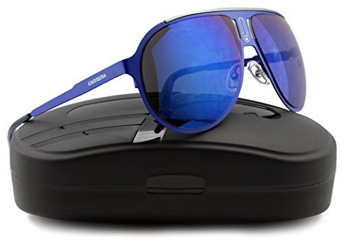 Carrera Champion Sunglasses Matte Blue w/Blue Mirror (06VX) 6VX XT 61mm - Sunglasses Carrera Authentic